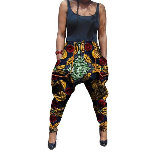 femme pantalon style aladin dashiki coton