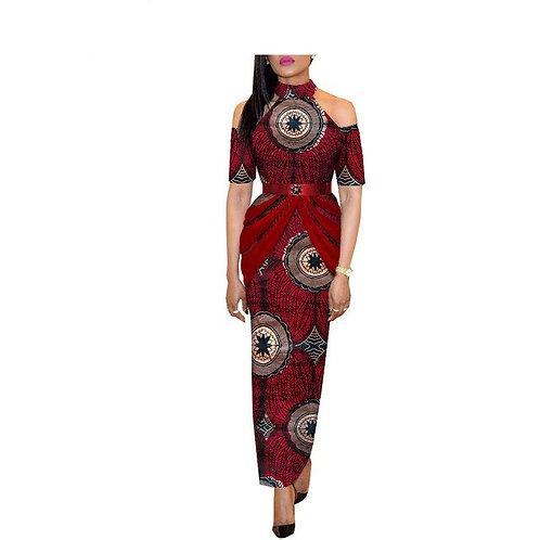 femmes robe moitié manches cheville longueur casual  avec sash