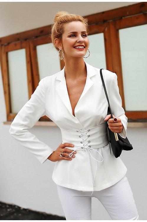 femme veste top bureau dame élégante