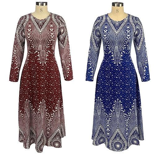 Robes African Long Dress  Women Dashiki New Summer Print