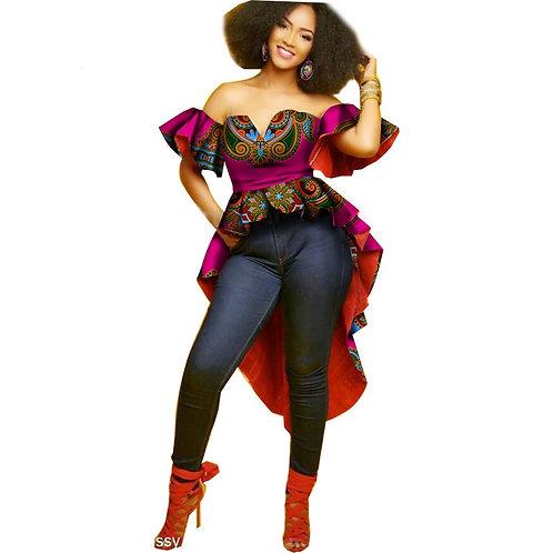 femme Bazin Riche Africain Robes  Sans Manches ref02