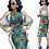 Thumbnail: robes africaine pour femmes  Riche Ankara imprimer épaule dénudée robes en