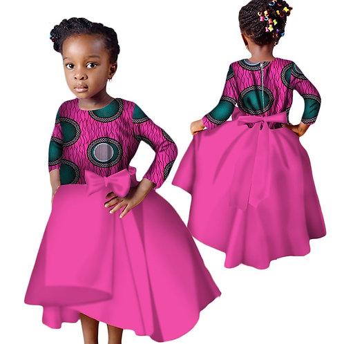 Enfants Dashiki nouvelle mode mignon filles robes Bazin