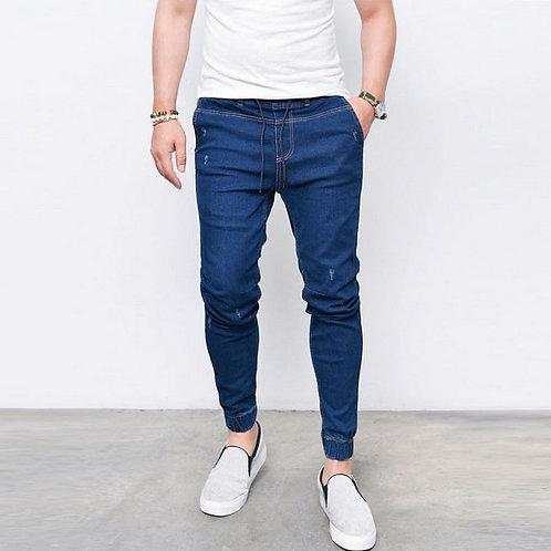 JEANS Élastique Taille Joggers Pantalon