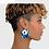 Thumbnail: Boucle d'oreille de style africain pour femmesà la main ankara 2