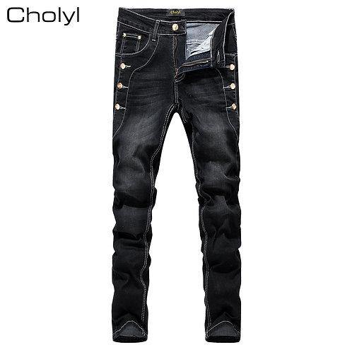 homme jeans  style street slim ref005