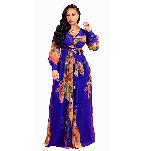 Femmes robe mode Impression élastique tissu