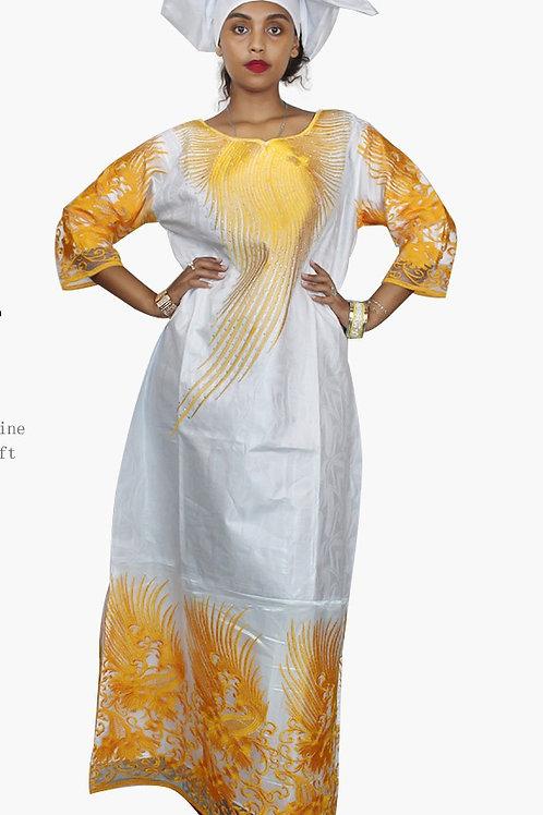 femmes africaines Dashiki Robes dentelle  bazin riche ref
