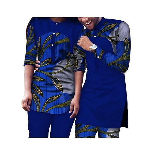 ensemble Hommes et Femmes 2 Pièces pantalons et haut Traditionnels vêtements Af