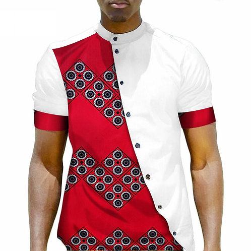 Hommes décontracté Africaine Dashiki Hommes chemise haute 100% COTON