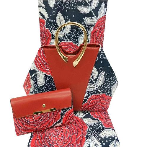 3 pieces (6m de cire pour couture +sac a main et pochette ref01