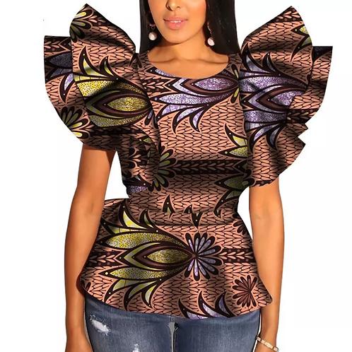 femme haut coton printemps et automne ankara imprimer dashiki
