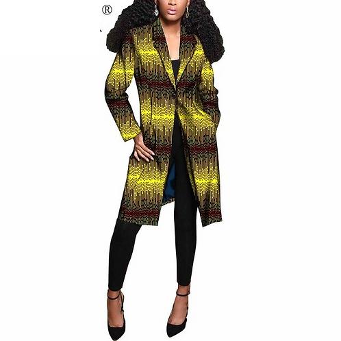 longues manteaux pour femmes Blazer veste Femme vêtements Bazin