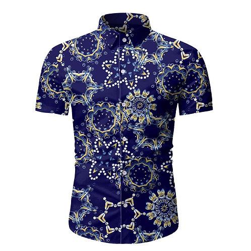 Hawaii décontracté hommes chemise Folk-personnalisé Style lin