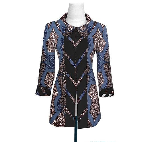mode femme ankara manteau avec doublure impression haute qualité cousu haut