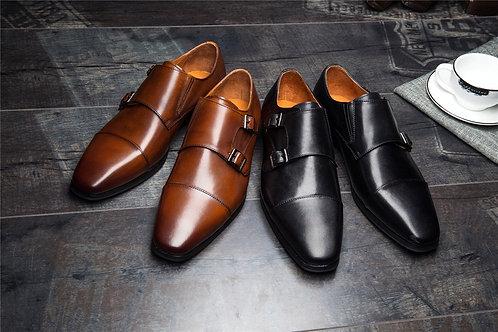 homme chaussure top  marque de luxe en cuir haute Qualité  ref001