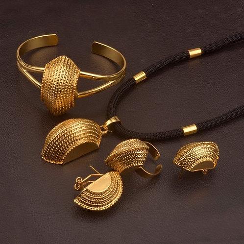 Noir Corde femme Éthiopien ensembles De Bijoux