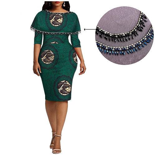 femmes crayon robe genou longueur  cire robe A18