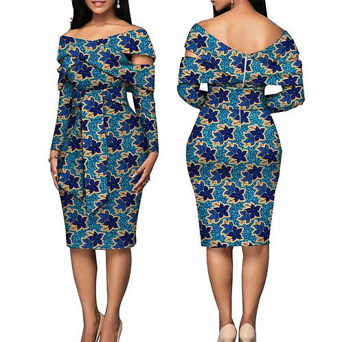 femme robe africaine impression robes conception ceinture élégante