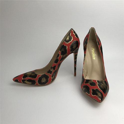 Femmes chaussures  mode chaude fleur  bout pointu mince talons hauts 12CM