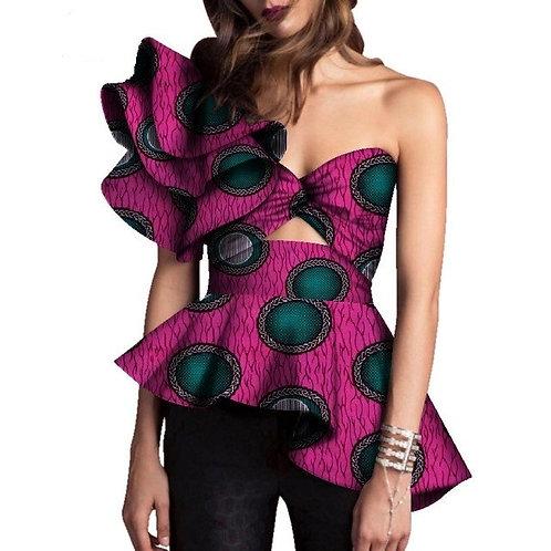 femme Dashiki Imprimer Tops Shirt Afrique Moderne Style 02