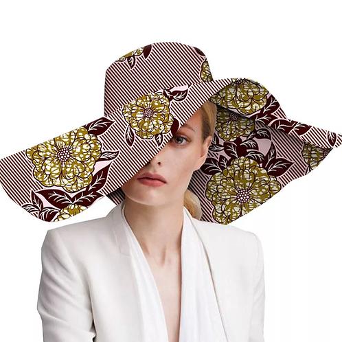 chapeaux ankara tissu à large bord chapeau cire batik