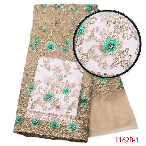 Nigérian perlé lacets tissus haute qualité dentelle africaine lacets floré tissu