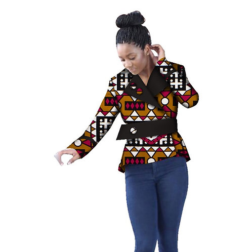 africains Dashiki Trench femmes haut Style africain à manches longues OutweareGF