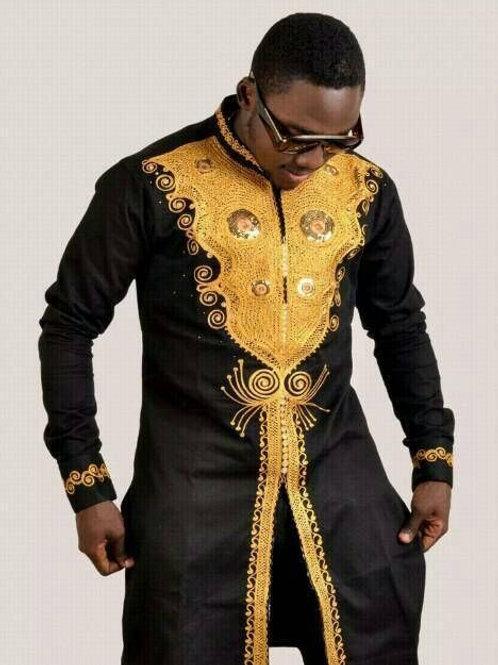 homme brodé d'oré dashiki Richic style nigeria