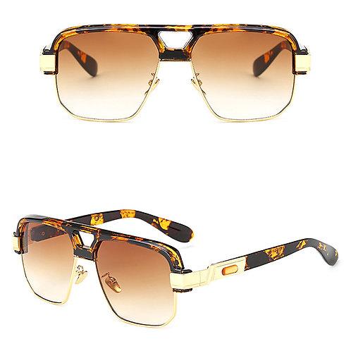 lunette homme de luxe leopard