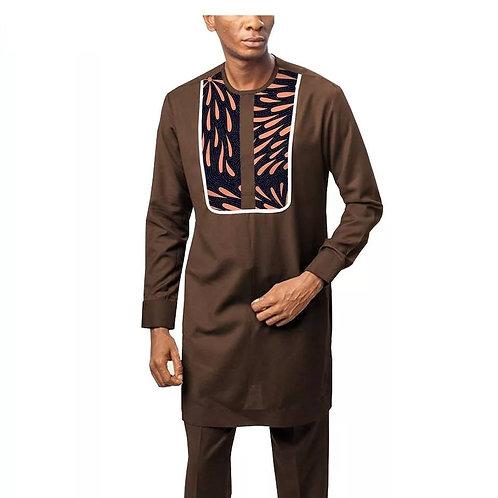 homme africains imprimer chemises + Ankara pantalon costume Tribal