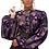 Thumbnail: Haut ankara imprimer femmes batik coton manteau S182