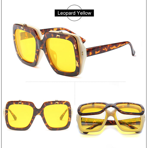 femme lunette richic de soleil double cadre