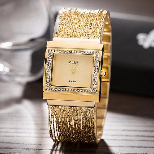 montre dame bracelet chaine d'oré
