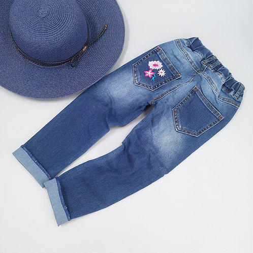 Pantalonfilles Broderie Fleurs