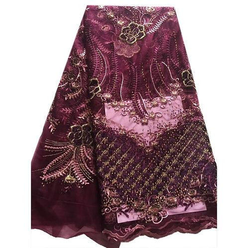 velours africain de haute qualité | Tissu de dentelle brodé paillette pierre