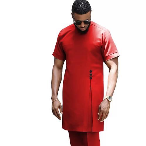 homme ensemble Dashiki chemise et Ankara pantalon tenue formelle color unik