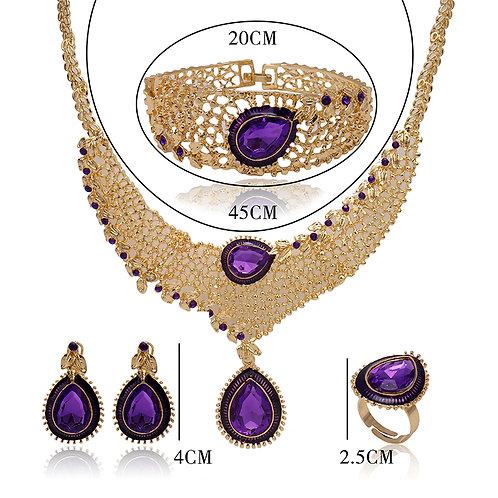 ensemble dame mariée perle nigeria violet