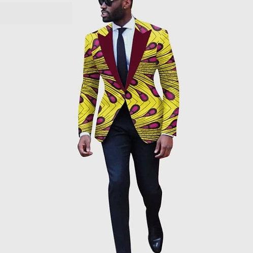 hommes costume vestes afrochic festives Blazers wax