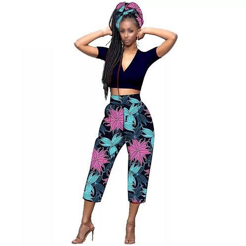 femme pantalon avec écharpe africain vêtements pour femme bazin