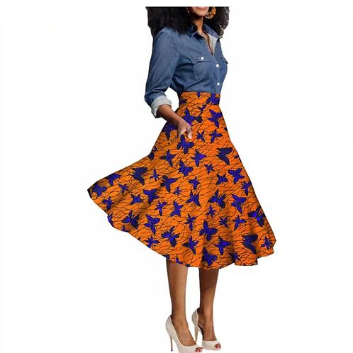femmes personnalisé africains jupe décontractée au genoux