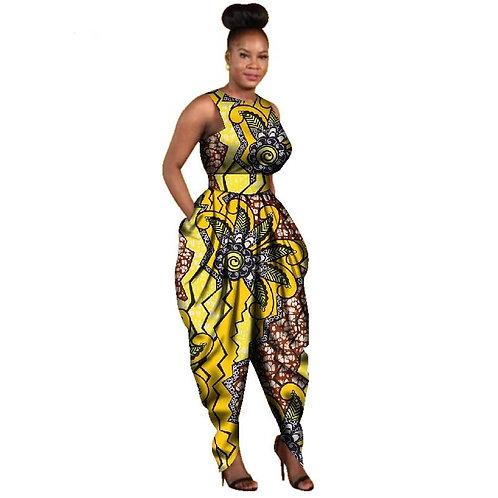 Sexy combinaison Femme  Dashiki élégant africa mode WY2766