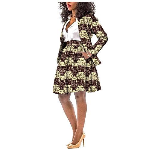 ensemble femme 2 pieces blazer + jupe ref1