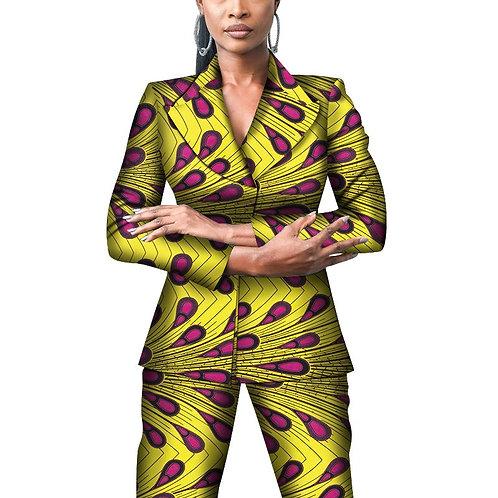 Bureau femmes imprimé africain costume et pantalons ensembles Dashiki Patchwork