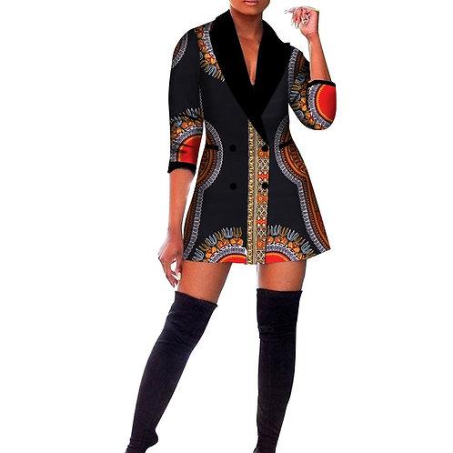 Femme africainne  imprimer Blazer Dashiki vêtementde bureau ref BP