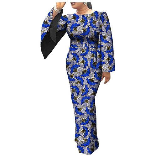robe décontractée pour femmes pleine cape manches o-cou cheville longueur