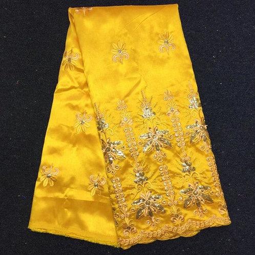 Indien George tissu  indien brut soie brodé