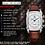 Thumbnail: hommes montres haut de gamme marque benyar chronographe Quartz- en cuir