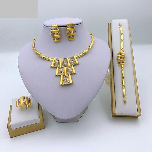 bijoux femme ensembles mariage  cristal collier africain Bracelet boucles bague