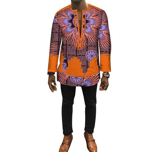 automne Dashiki africain hommes vêtements Bazin Riche Patch